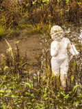 Archaic statue at ancient Dion Archeological Site in Greece Stock Photography
