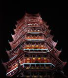 Archaic tower at night Stock Photography