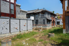 Archaised Chinese tradtional buildings on construction site Royalty Free Stock Photography