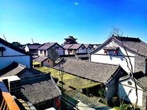 The archaistic buildings with Chinese characteristics stock photo