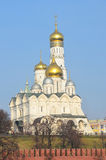 Archangel Cathedral and the bell tower of Ivan the Great, the Moscow Kremlin Royalty Free Stock Images