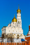 Archangel cathedral and Ivan the Great belfry of Moscow Kremlin Stock Images