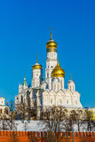 Archangel cathedral and Ivan the Great belfry of Moscow Kremlin Royalty Free Stock Photos