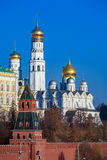 Archangel Cathedral in the Kremlin, Moscow, Russia Royalty Free Stock Photos