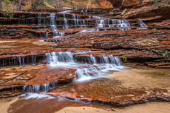 Archangel falls in Zion National Park stock photo