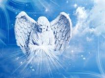 Archangel Gabriel. Angel archangel with rays of light stock image