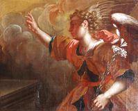 Archangel Gabriel. The Annunciation of the Virgin Mary Royalty Free Stock Photo