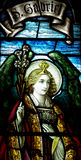 Archangel Gabriel in stained glass Royalty Free Stock Image