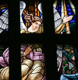 Archangel Gabriel - Stained Glass Stock Photo