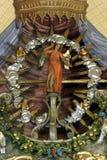 Archangel Gabriel. Statue on the church altar Stock Photos