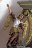Archangel Gabriel. Statue of Archangel Gabriel on the church altar Stock Images