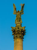 Archangel Gabriel statue, Heroes Square, Budapest Stock Photo