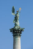 Archangel Gabriel statue in Heroes Square Budapest Royalty Free Stock Photography