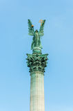 Archangel Gabriel on top of column Royalty Free Stock Photo