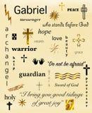 Archangel Gabriel Word Cloud Stock Image