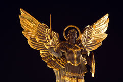 Archangel Michael. Maydan nezalejnosti, Kiev, Ukraine royalty free stock photography