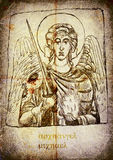Archangel Michael. The first image from a series of Angels. Archangel Michael. - Pencil drawing Stock Photo