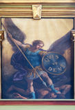 Archangel Michael. Altarpiece in the Basilica of the Sacred Heart of Jesus in Zagreb, Croatia Stock Photo