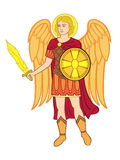 Archangel michael the arms of Kiev Royalty Free Stock Photo