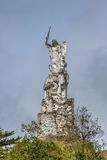 Archangel Michael and the Beast Statue near Las Lajas Sanctuary - Ipiales, Colombia Stock Photo