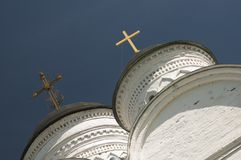 The Archangel Michael church in Mikulino village, fragment Stock Image