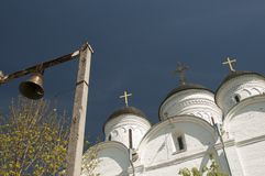 The Archangel Michael church in Mikulino village, fragment Royalty Free Stock Photos