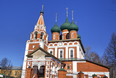 Archangel Michael church. Yaroslavl, Russia. View of Archangel Michael church. Yaroslavl, Russia Stock Photography