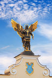 Archangel Michael. Golden statue of Archangel Michael at Independence Square in Kiev, Ukraine Royalty Free Stock Images
