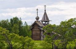 Archangel Michael Orthodox chapel on Kizhi island Stock Photo