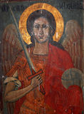 Archangel Michael. Picture of a frescoe of Archangel Michael Stock Image