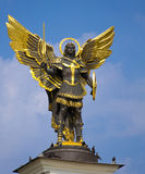 Archangel Michael Saint. Patron of Kiev in independence square, Kiev stock images
