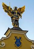 Sculpture of the Archangel Michael in Kiev. stock images