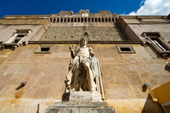 Archangel Michael statue in Castel Sant'Angelo Royalty Free Stock Photography