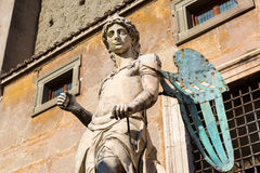 Archangel Michael statue in Castel Sant'Angelo, Rome Royalty Free Stock Image