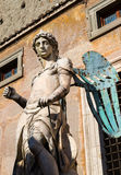 Archangel Michael statue in Castel Sant'Angelo, Rome Royalty Free Stock Photos