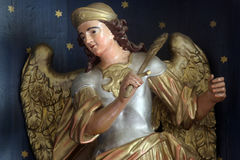 Archangel Michael. Statue of Archangel Michael on the church altar Royalty Free Stock Photo