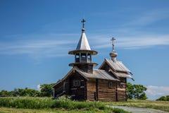 Archangel Michael wooden chapel on Kizhi island Royalty Free Stock Images