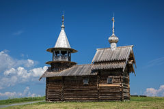 Archangel Michael wooden chapel on Kizhi island Royalty Free Stock Photos