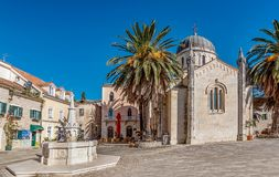 Archangel Michale orthodox church in the Old Town in Herceg Novi, Montenegro royalty free stock images