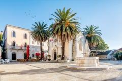 Archangel Michale orthodox church in the Old Town in Herceg Novi, Montenegro stock photos
