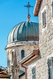 Archangel Michale orthodox church in the Old Town in Herceg Novi, Montenegro royalty free stock photos