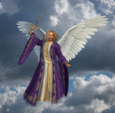 Archangel Micheal with Sky Royalty Free Stock Photography