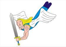 Archangel. My illustration of archangel Gabriel Stock Image