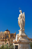 Archangel Raphael statue at Cordoba Spain Royalty Free Stock Photo