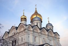 The Archangel's Cathedral of Moscow Kremlin. Stock Photo