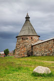 Archangel tower of Solovetsky monastery Stock Image