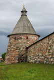 Archangel tower of Solovetsky monastery, Russia Stock Photos