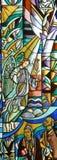 Archangelngel Gabriel, λεκιασμένο γυαλί Στοκ φωτογραφίες με δικαίωμα ελεύθερης χρήσης