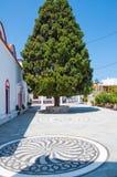 Archangelos, Grecja archanioł Michael kościół, Grecja zdjęcie royalty free