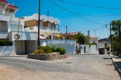 Archangelos, Greece  city of Archangelos on the island of Rhodes, Greece stock photos
